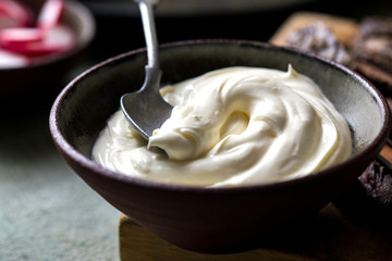 Bowl of sour cream
