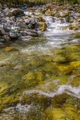 Fototapete - Majestic mountain river in Canada.
