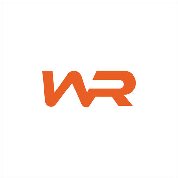Initial letter wr or rw logo vector templates
