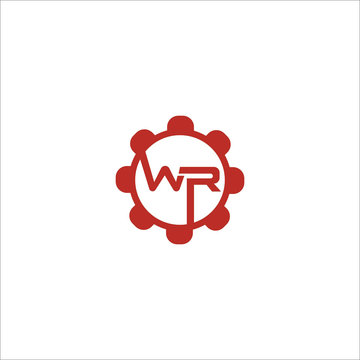 Initial letter wr or rw logo design template