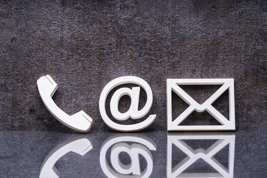 Phone, Email And Post Icons