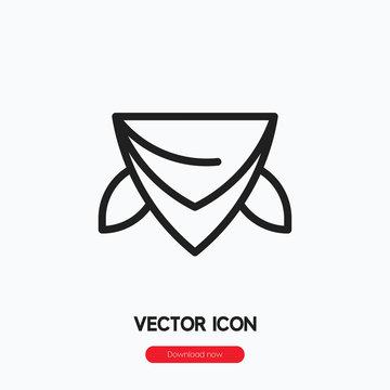 bandana icon vector. Linear style sign for mobile concept and web design. bandana symbol illustration. Pixel vector graphics - Vector.