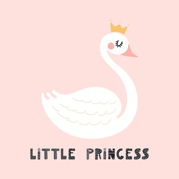 Cute swan illustration