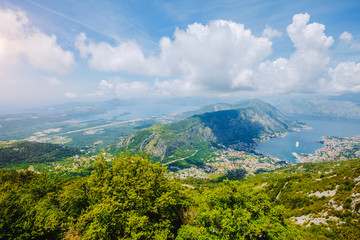 Fototapete - Picturesque view of of Kotor bay (Boka Kotorska). Location Montenegro.