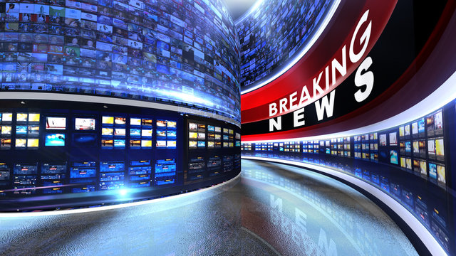 Breaking news Virtual set studio for green footage Realize your vision for a professional-looking studio  wherever you want it. With a simple setup, a few square feet of space, and Virtual Set