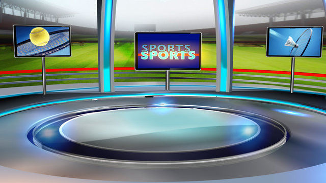 Sports Virtual set studio for green footage Realize your vision for a professional-looking studio  wherever you want it. With a simple setup, a few square feet of space, and Virtual Set ,