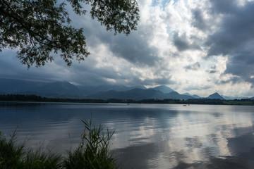 Beautiful bavarian mountain lake
