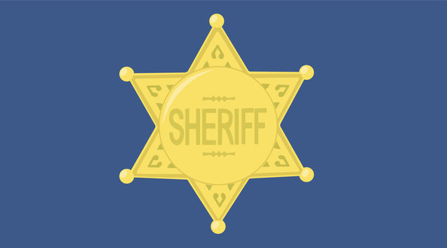 Vector Isolated Illustration of a Sheriff Badge