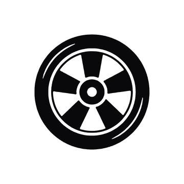 racing car wheel filledvector icon