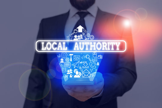 Handwriting text writing Local Authority. Conceptual photo the group of showing who govern an area especially a city