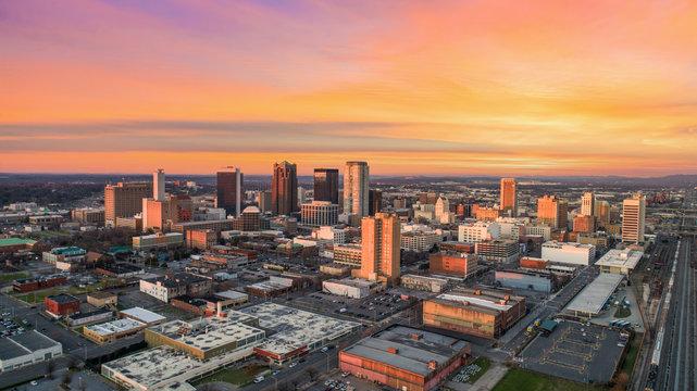 Birmingham, Alabama, USA Drone Skyline Aerial
