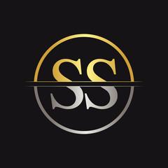 Initial Letter SS Logo Design Vector Template. SS Letter Logo Design