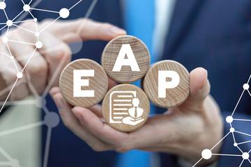EAP Employee Assistance Program Business Care Concept.