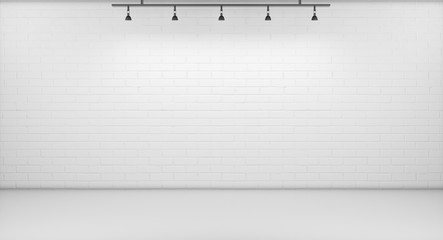 Background. White Backdrop, 3D rendering