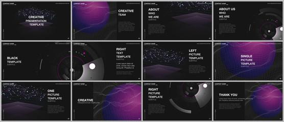Presentation design vector templates, multipurpose template for presentation slide, flyer, brochure cover design, infographic report. Future technology. Infographic digital cloud technology concept. Wall mural