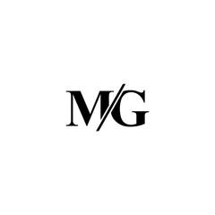 Fototapeta MG M G logo design template elements obraz