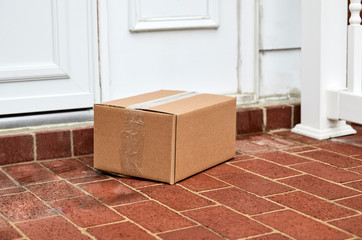 Package on Front Door Step