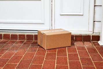 Package on Front Door Step