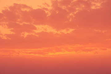brown and orange sky at sunset nicve view background