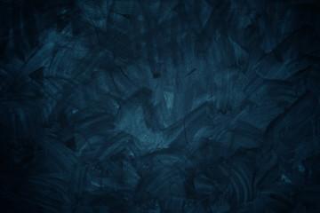 Fototapete - Dark blue cement texture wall background