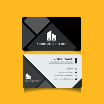 Modern creative business card template for Architecture and Interior Design agency. This simple clean name card template can be used for your architecture, home design, and interior design company.