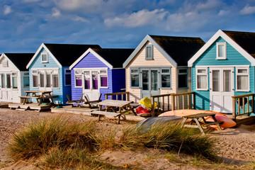 Fotobehang Zuid Afrika Hengistbury Head beach huts Dorset
