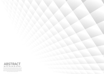 Abstract geometric square pattern background with white shapes perspective can be used in cover design  poster  website  flyer.