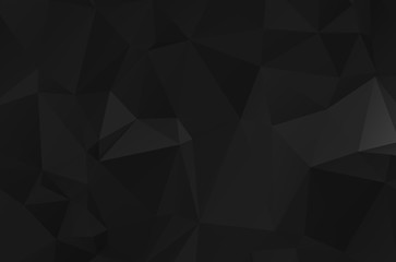 Dark low poly template vector background illustration with an elegant design esign