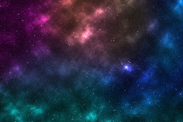 Abstract Space background with nebula and stars, night sky and milky way.