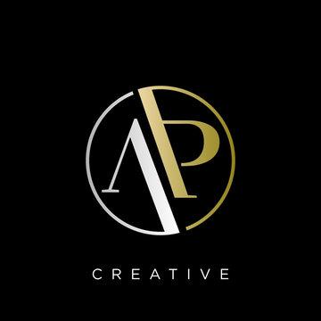 ap logo design vector icon