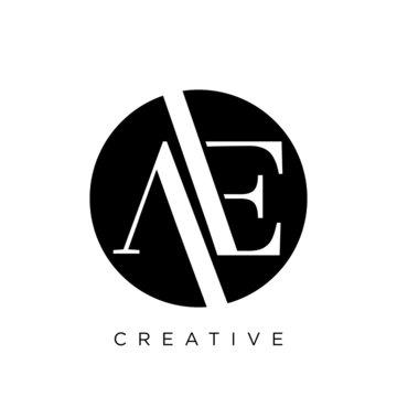 ae logo circle design