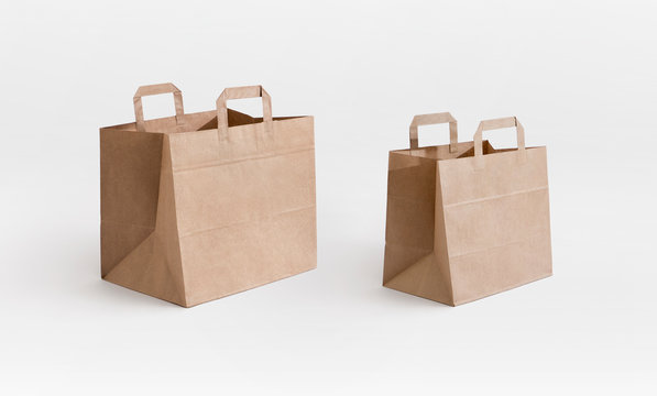 take away brown paper bags