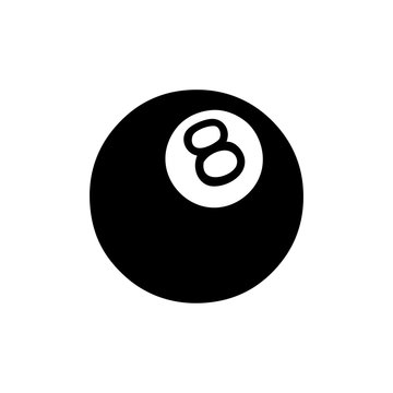 black line tattoo of a 8 ball