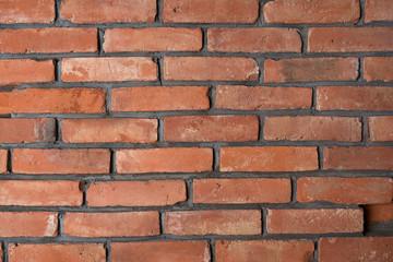 Ceglana ściana, tekstura z cegieł