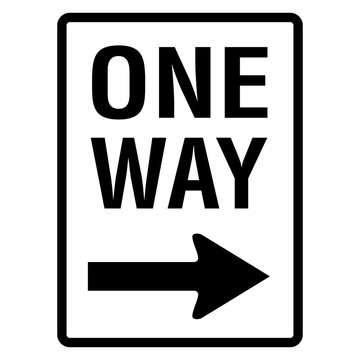 one way road sign street signage icon illustration graphic