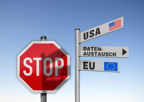 Schilder, Datenaustausch zwischen USA und EU