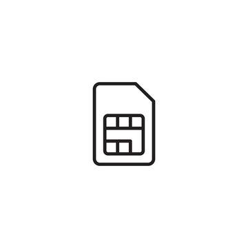 Sim card icon symbol vector illustration. Chip, mobile slot for your web site design or mobile app, graphic design, UI. EPS10. Vector illustration