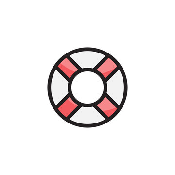 Lifebuoy icon logo vector illustration
