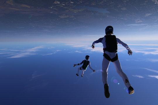 Skydivers over Deland FL, USA