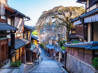 Poster Kyoto 春の京都 産寧坂 朝景