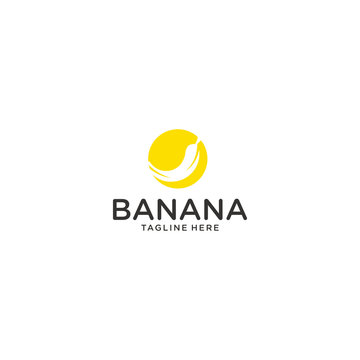 banana vector icon logo graphic design template