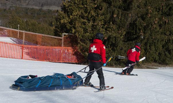 Ski Patrol on Ski Hill