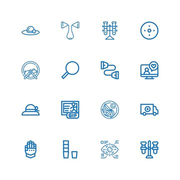 Editable 16 transparent icons for web and mobile