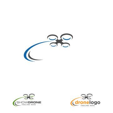 Drone logo design concept. Logo for drone service company