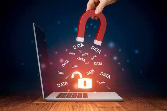Leaked data and data breach concepts