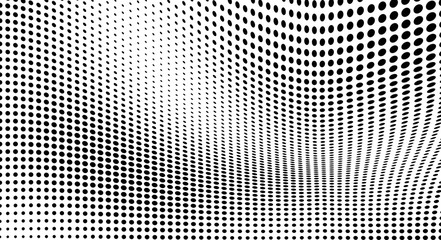 Abstract half-tone texture. Black and white chaotic background of dots