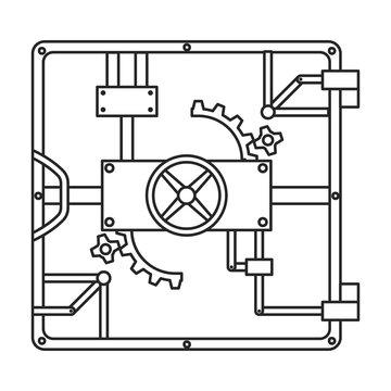 Door of storage vector icon.Outline vector icon isolated on white background door of storage .