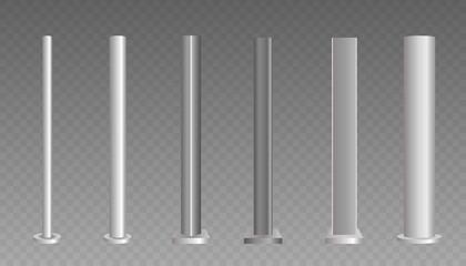 Fototapeta Metal column. Metal pole.  obraz