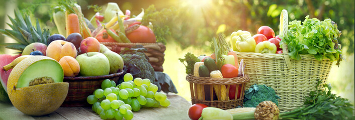 Healthy food, healthy eating, vegetarian food, a vegetarian diet consists of organic fruits and vegetables