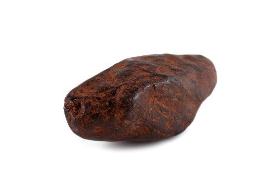 Iron meteorite isolated on white